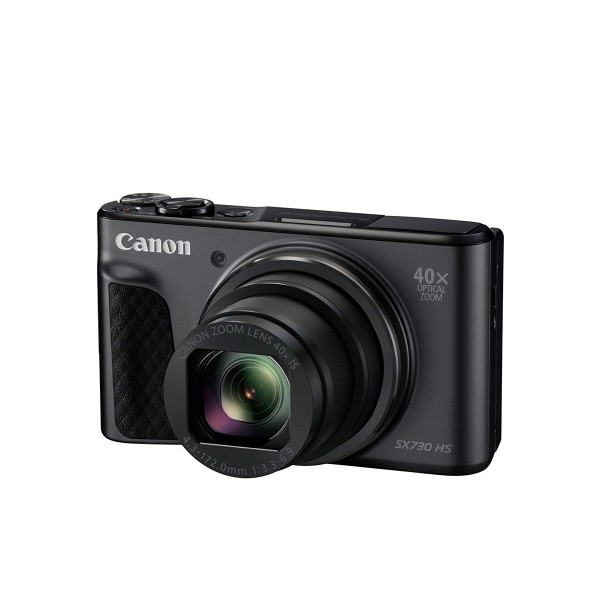 Canon powershot sx730 negro cámara de fotos digital compacta 20.3mp fhd zoom óptico estabilizador inteligente wifi bluetooth nfc