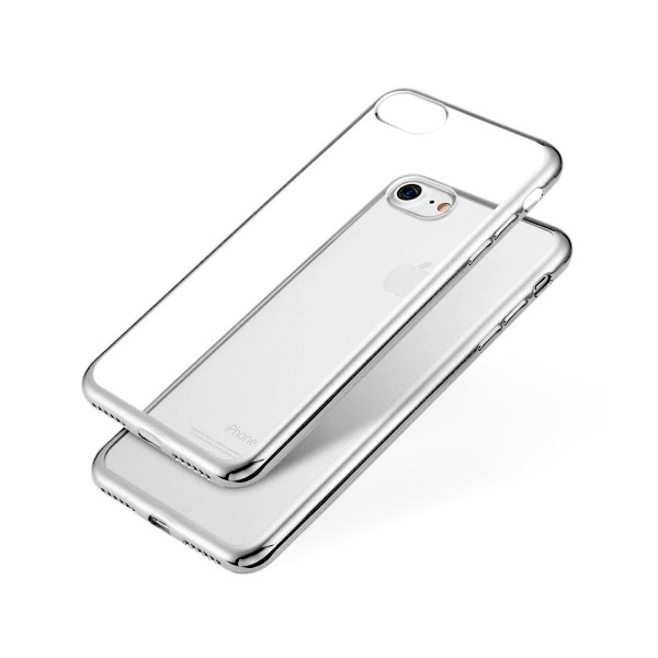 Jc carcasa transparente con borde plata apple iphone 6s/6