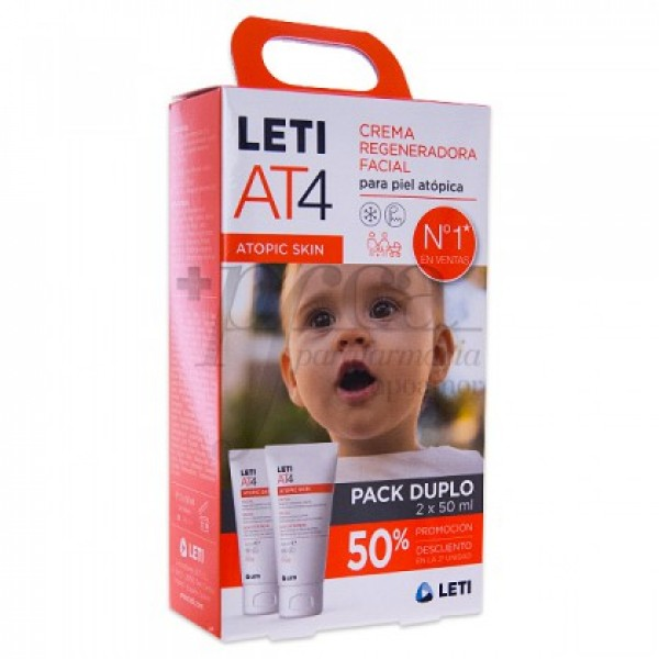 LETI ATOPIC PIEL AT4 CREMA FACIAL 2X50 ML PROMO
