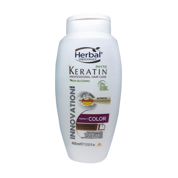 Herbal originals phyto keratin professional hair care perfect color express mascarilla 400ml