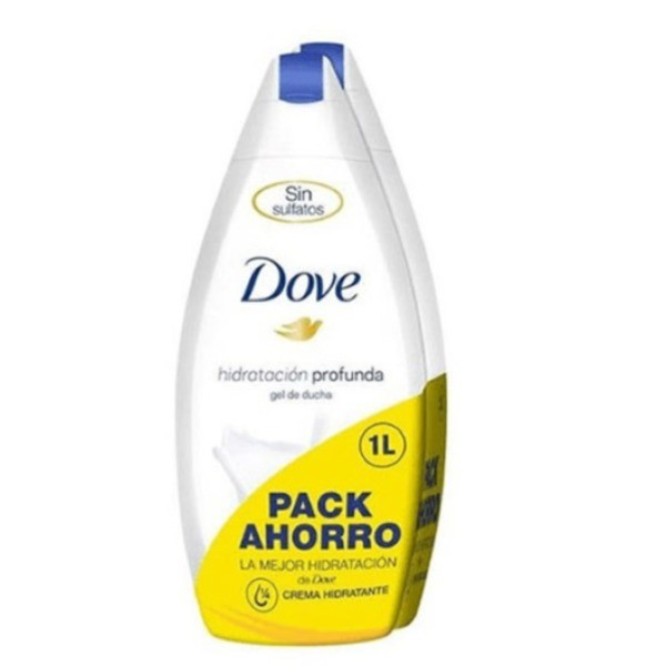Dove gel Hidratación Profunda 500 ml + 500 ml PACK AHORRO