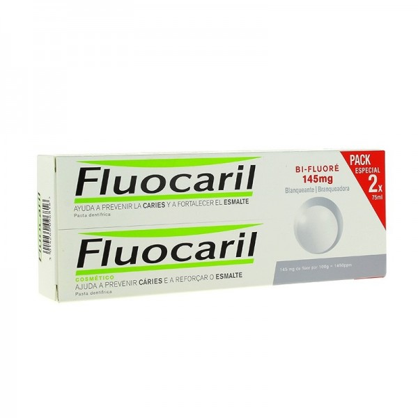 FLUOCARIL BIFLUORE 145MG BLANQUEANT 2X75ML PROMO
